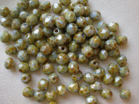 15119001-03000-65305-4mm zöldes kőmintás