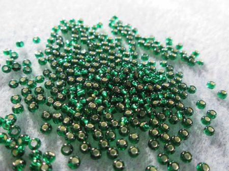 57060-10/0-ezüstközepű zöld