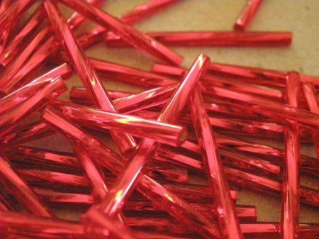 2-élénk piros ezüst közepű 30 mm